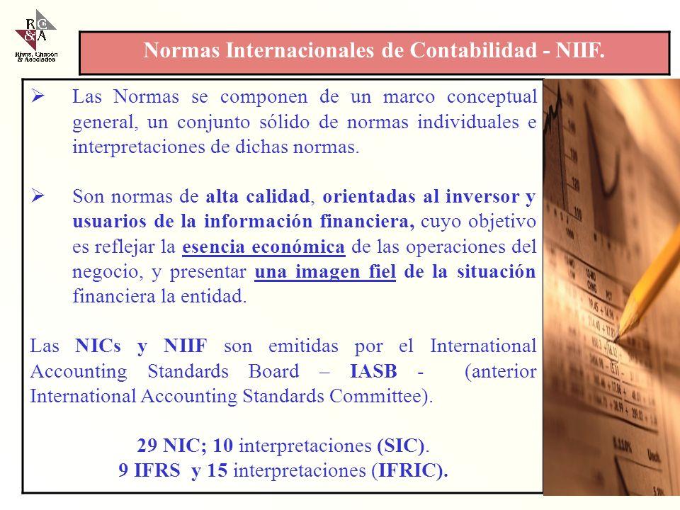 Normas Internacionales de Contabilidad - NIIF.