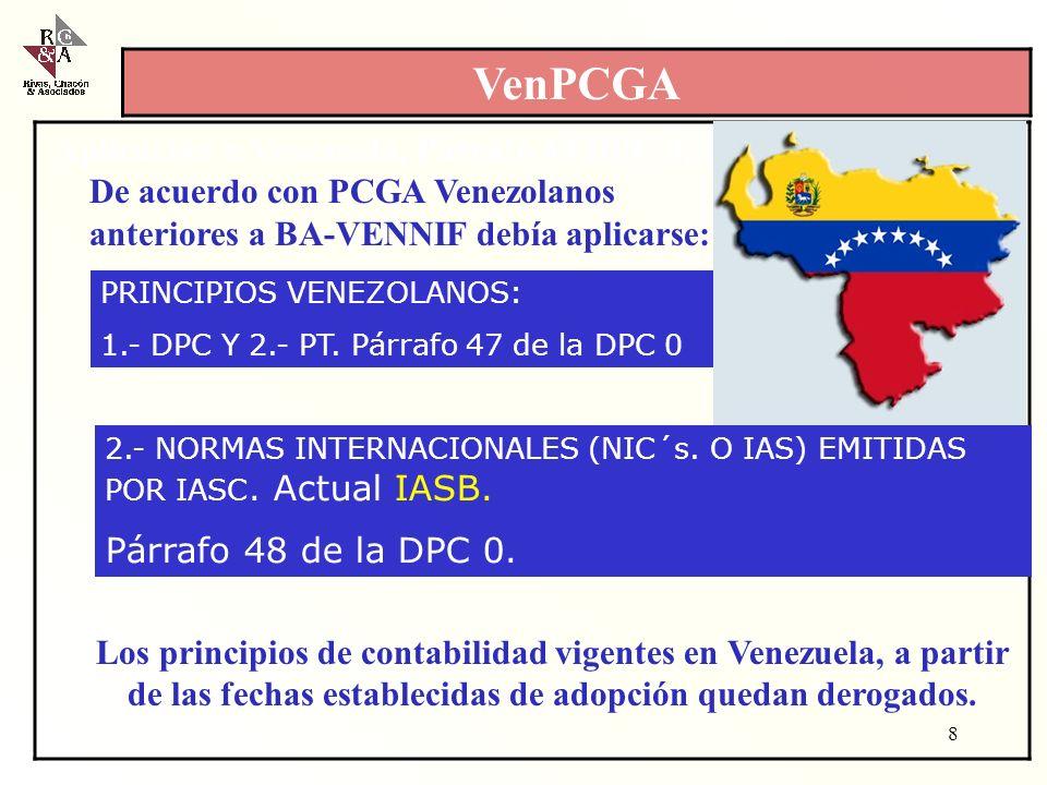 VenPCGA Aplicación n Venezuela, Párrafo 48 DPC 0, 1997toria de en Ve