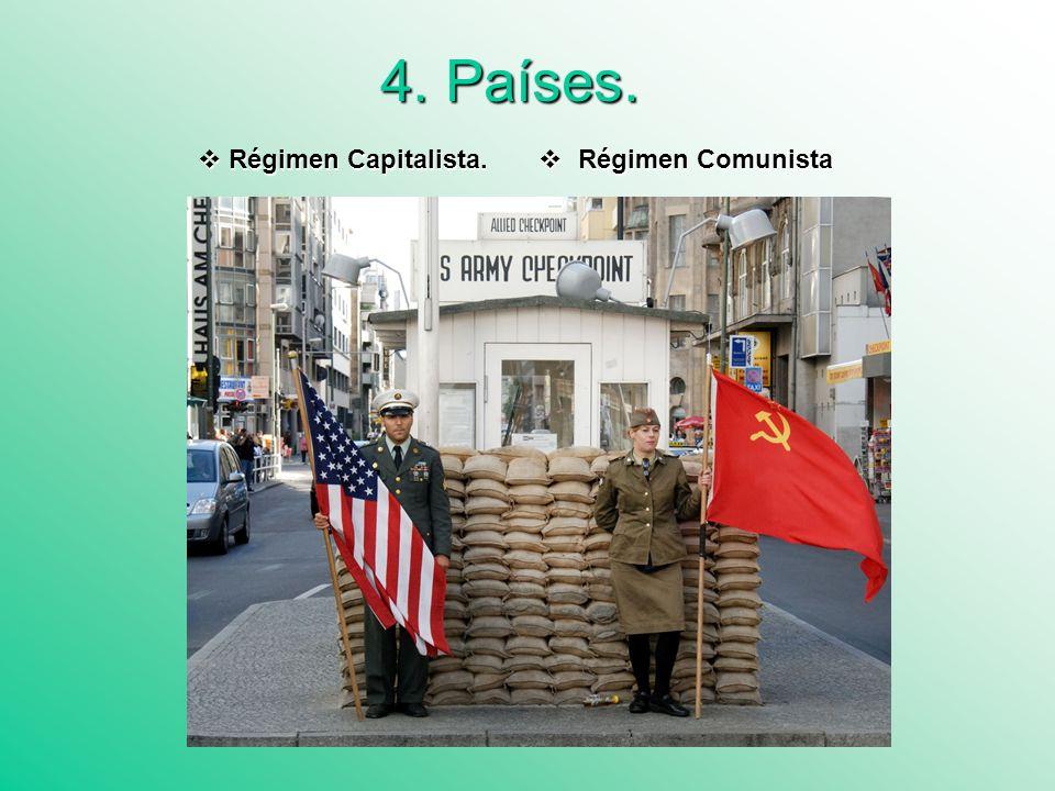 4. Países. Régimen Capitalista. Régimen Comunista