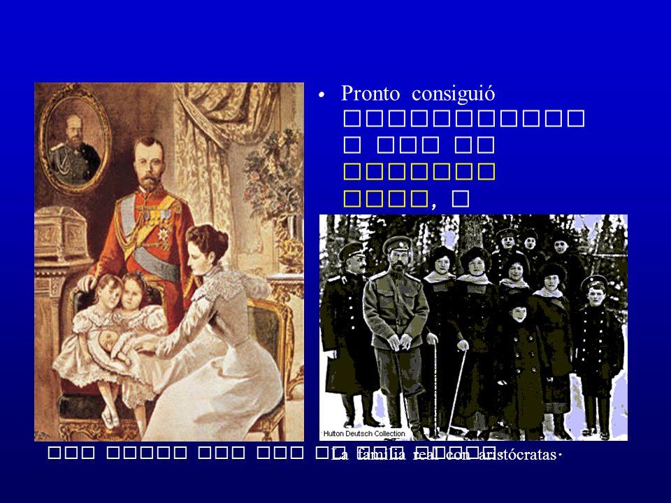 Pronto consiguió relacionarse con la familia real, y ganarse la confianza de la aristocracia.