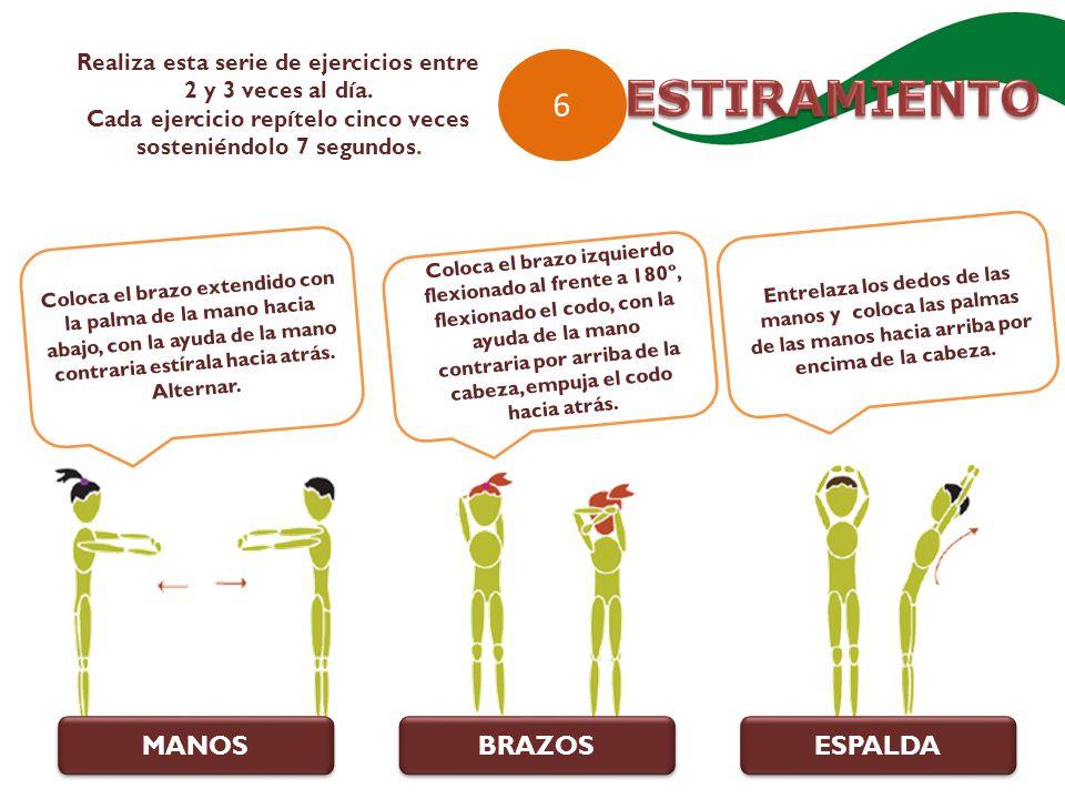 ESTIRAMIENTO 6 MANOS BRAZOS ESPALDA