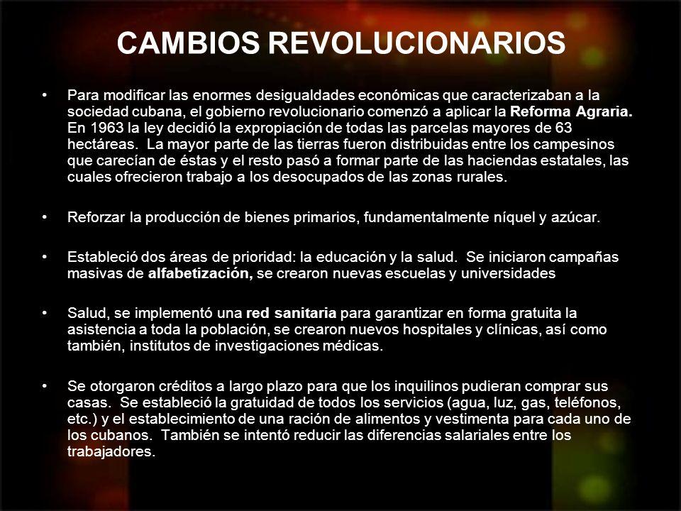 CAMBIOS REVOLUCIONARIOS