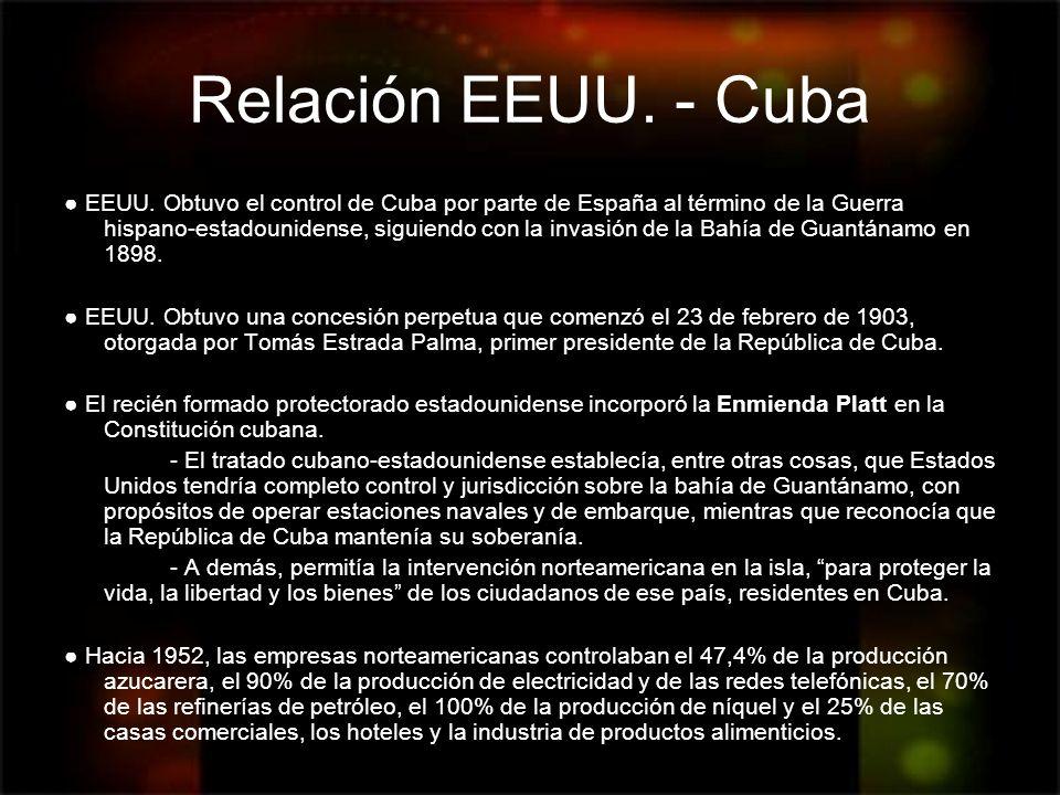Relación EEUU. - Cuba