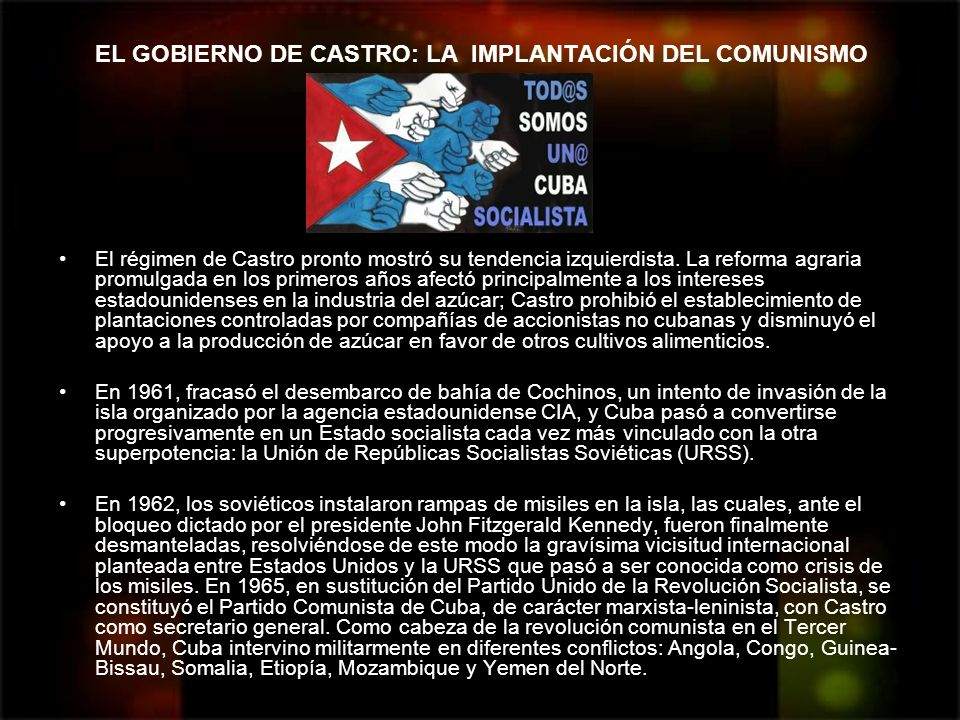 EL GOBIERNO DE CASTRO: LA IMPLANTACIÓN DEL COMUNISMO
