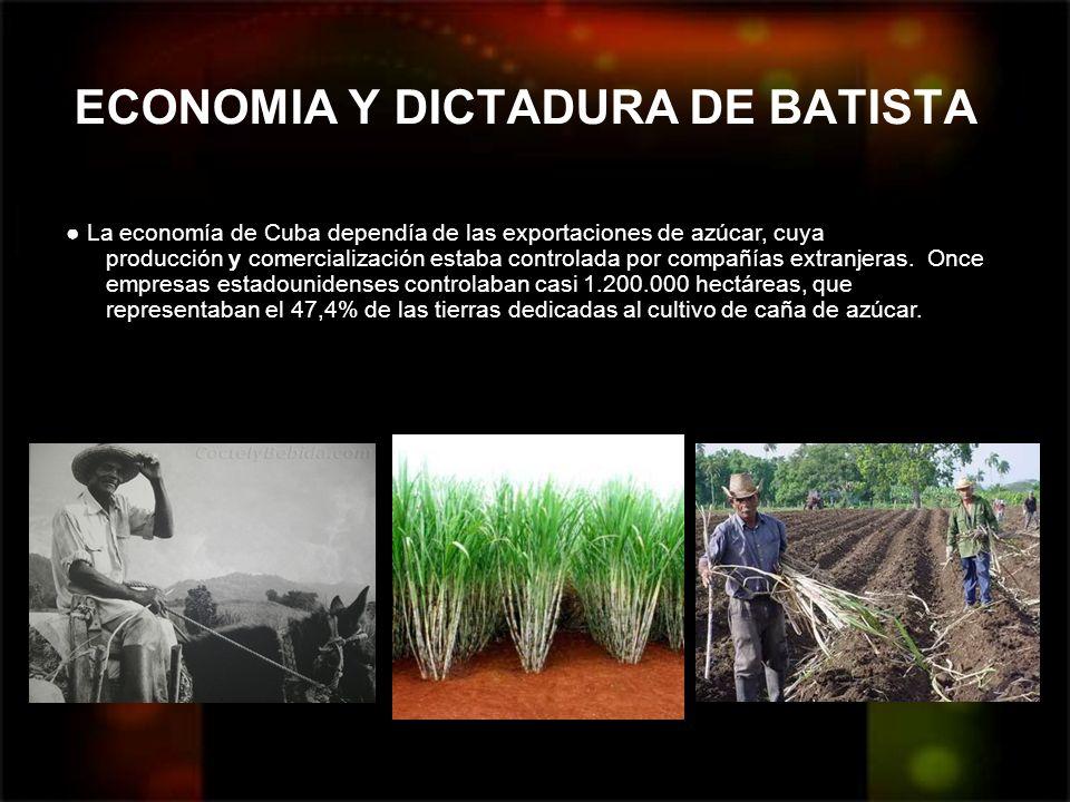ECONOMIA Y DICTADURA DE BATISTA