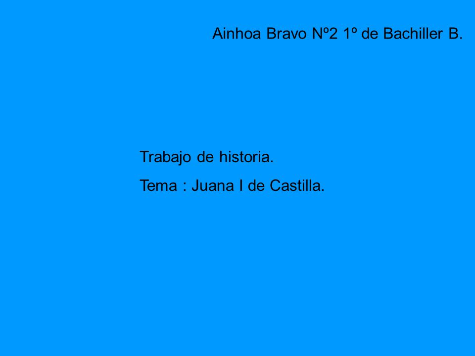 Ainhoa Bravo Nº2 1º de Bachiller B.