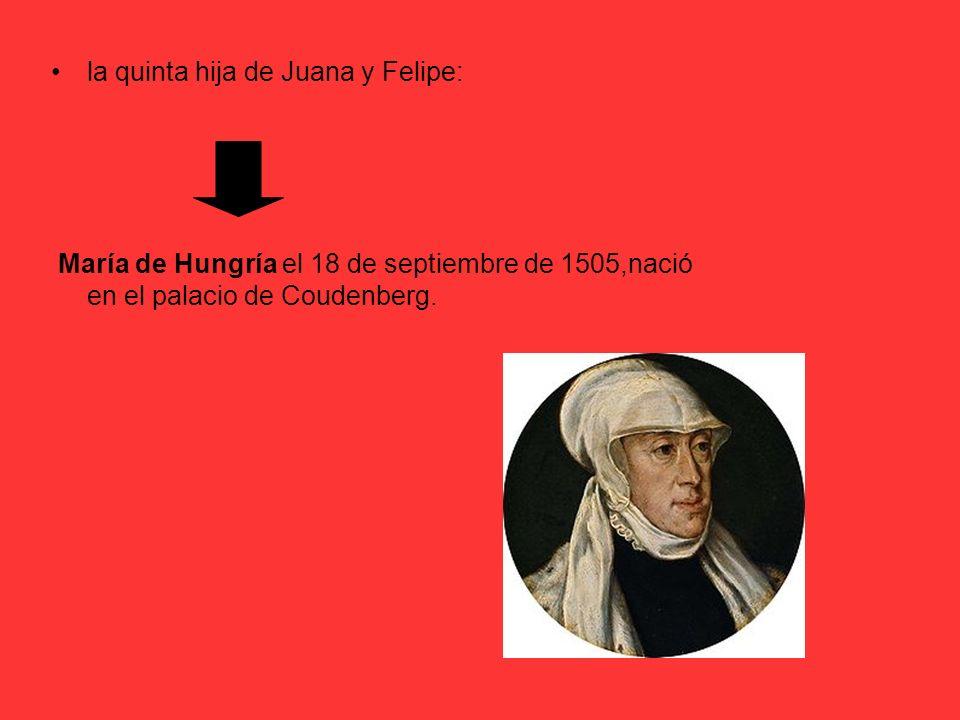 la quinta hija de Juana y Felipe: