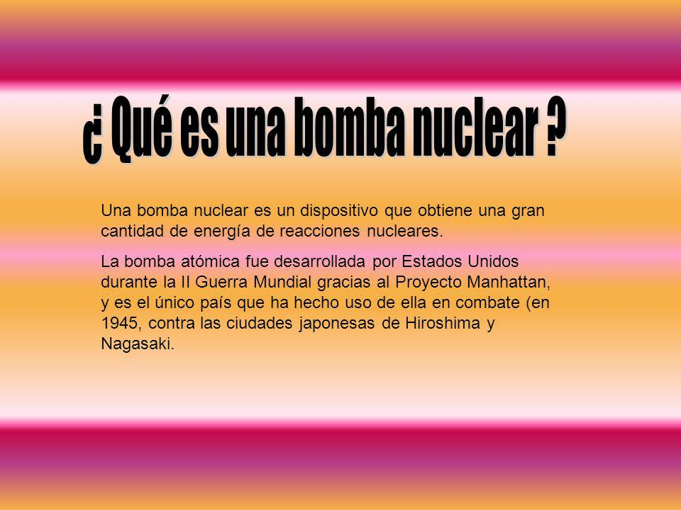 ¿ Qué es una bomba nuclear