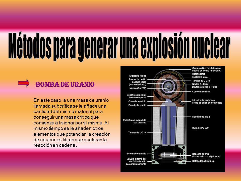 Métodos para generar una explosión nuclear