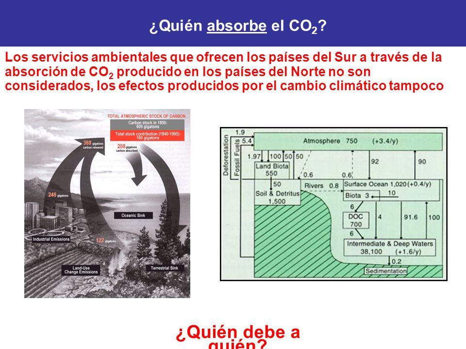 ¿Quién debe a quién ¿Quién absorbe el CO2