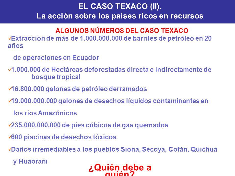 EL CASO TEXACO (II). La acción sobre los países ricos en recursos