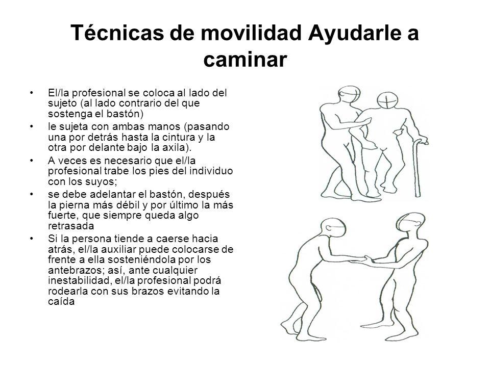 Técnicas de movilidad Ayudarle a caminar