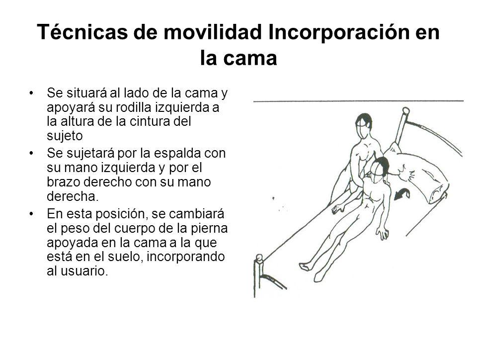 Técnicas de movilidad Incorporación en la cama