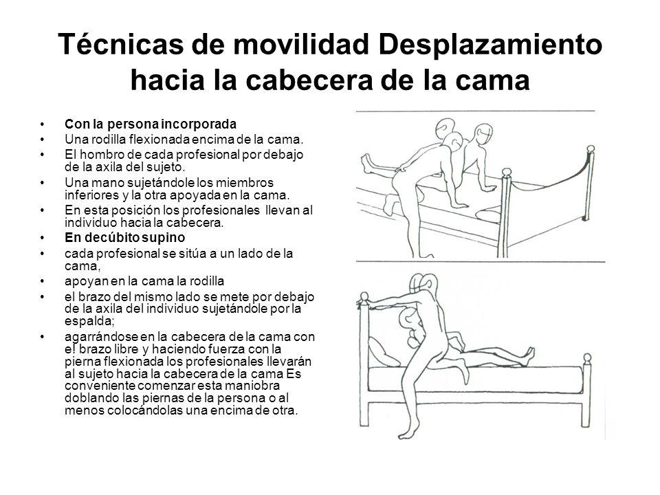 Técnicas de movilidad Desplazamiento hacia la cabecera de la cama