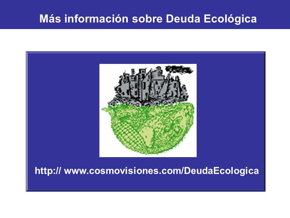 Más información sobre Deuda Ecológica