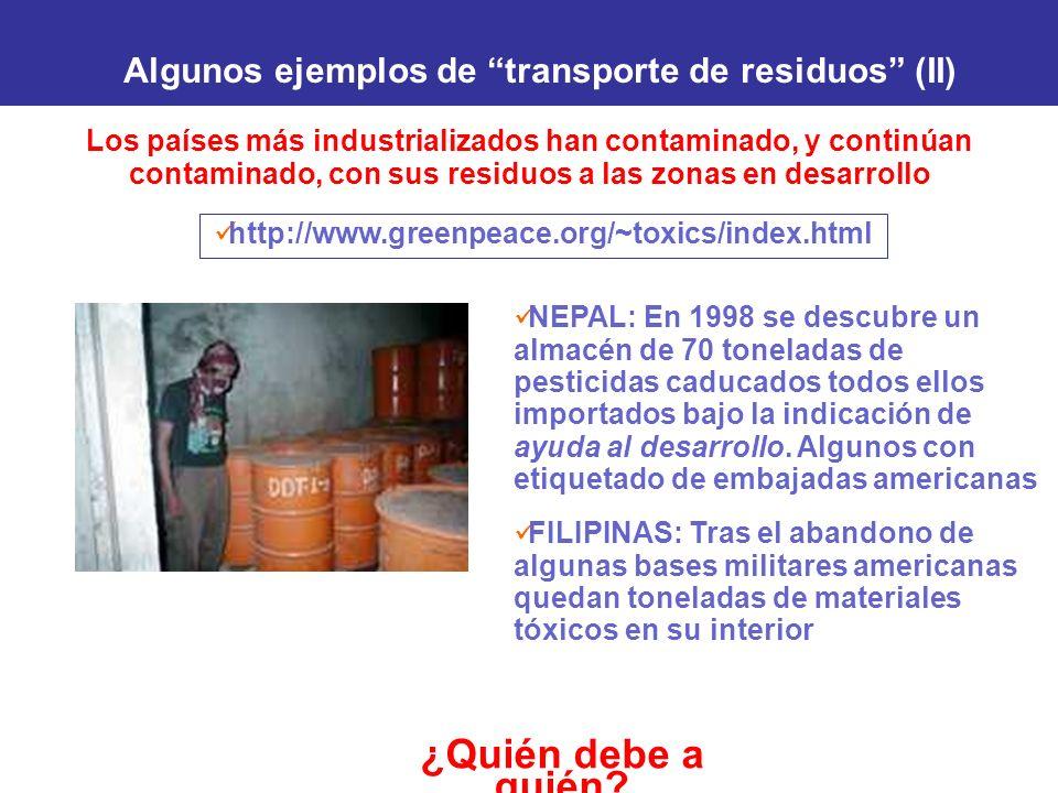Algunos ejemplos de transporte de residuos (II)