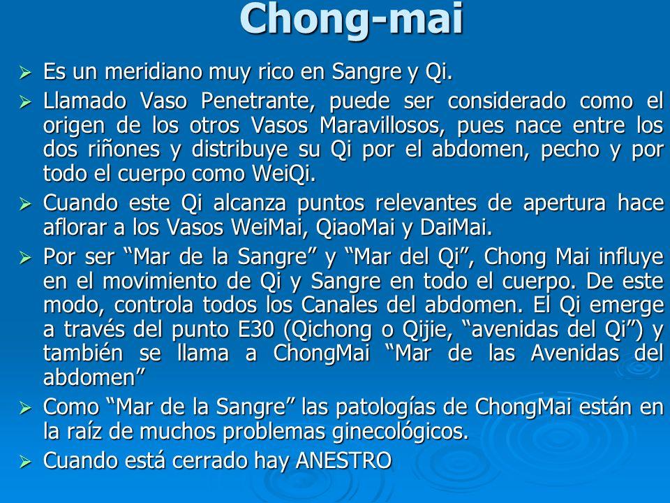 Chong-mai Es un meridiano muy rico en Sangre y Qi.