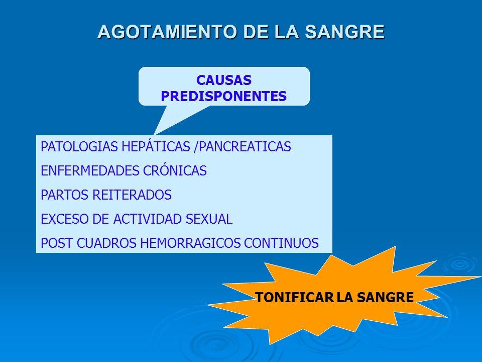 AGOTAMIENTO DE LA SANGRE