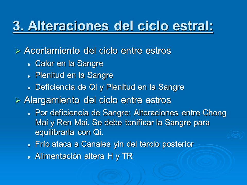 3. Alteraciones del ciclo estral: