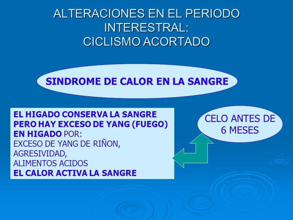 ALTERACIONES EN EL PERIODO INTERESTRAL: CICLISMO ACORTADO