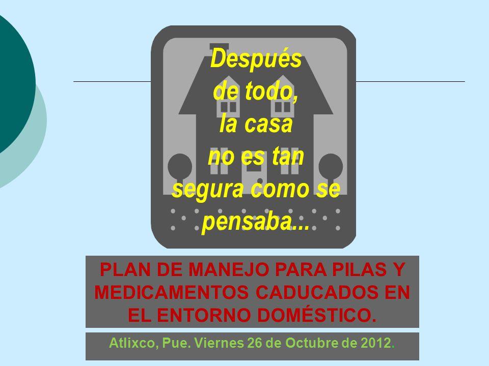 Atlixco, Pue. Viernes 26 de Octubre de 2012.