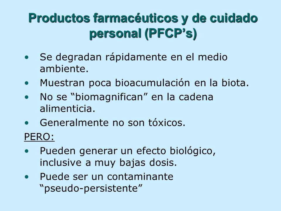 Productos farmacéuticos y de cuidado personal (PFCP's)