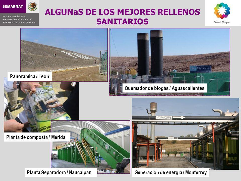 ALGUNaS DE LOS MEJORES RELLENOS SANITARIOS