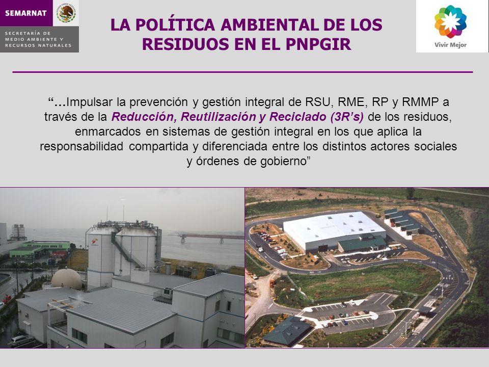 LA POLÍTICA AMBIENTAL DE LOS RESIDUOS EN EL PNPGIR