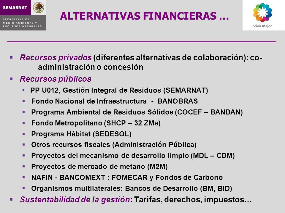 ALTERNATIVAS FINANCIERAS …