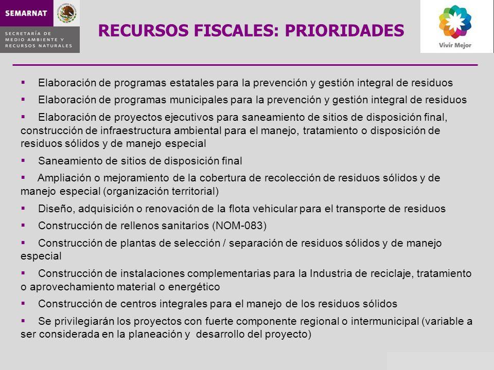 RECURSOS FISCALES: PRIORIDADES