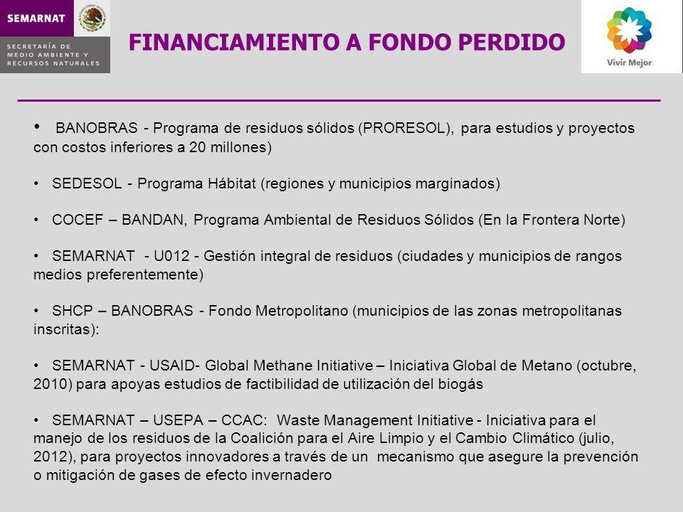 FINANCIAMIENTO A FONDO PERDIDO
