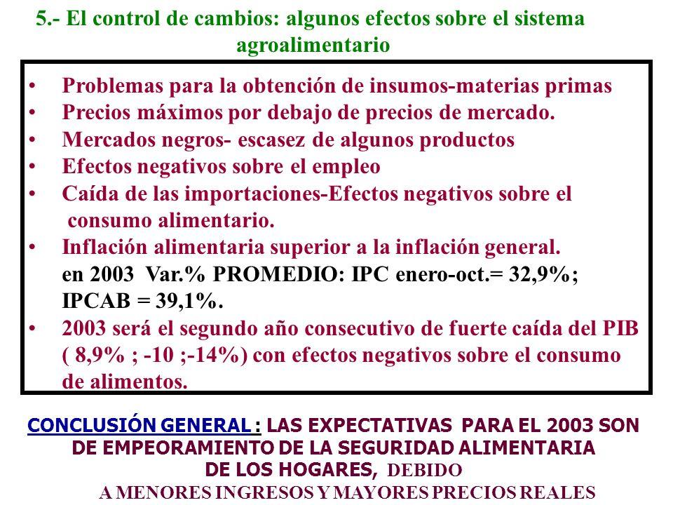 5.- El control de cambios: algunos efectos sobre el sistema