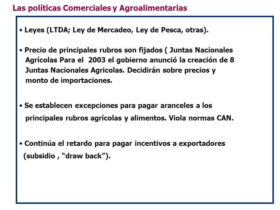 Las políticas Comerciales y Agroalimentarias