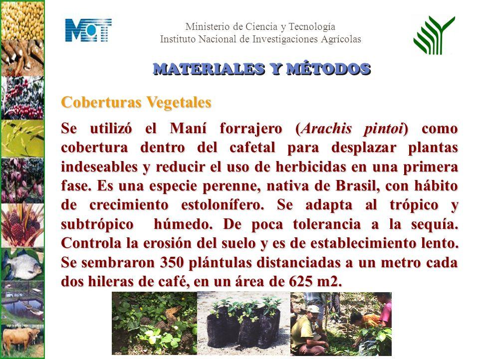 Coberturas Vegetales MATERIALES Y MÉTODOS