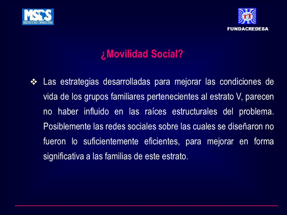 FUNDACREDESA ¿Movilidad Social