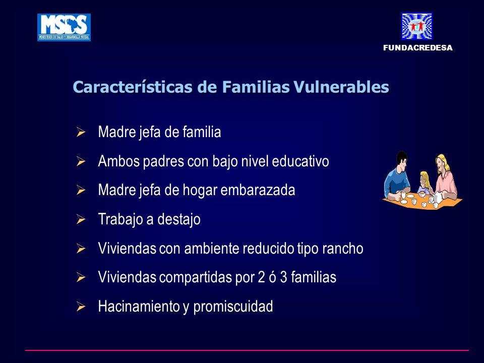 Características de Familias Vulnerables