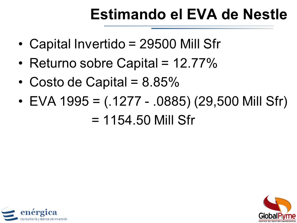 Estimando el EVA de Nestle