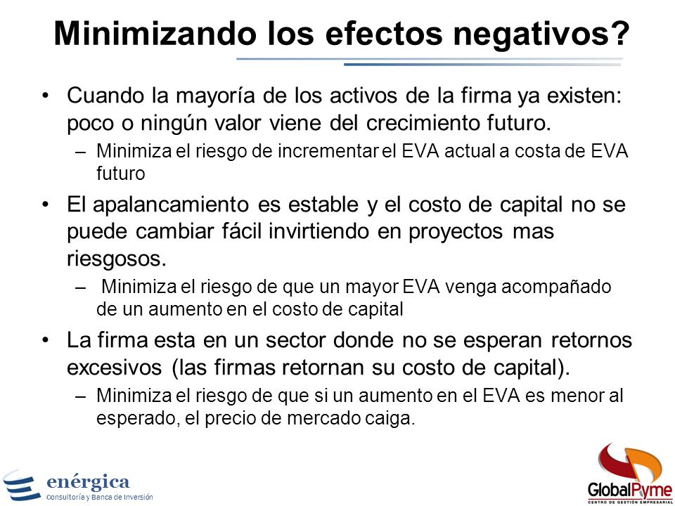 Minimizando los efectos negativos