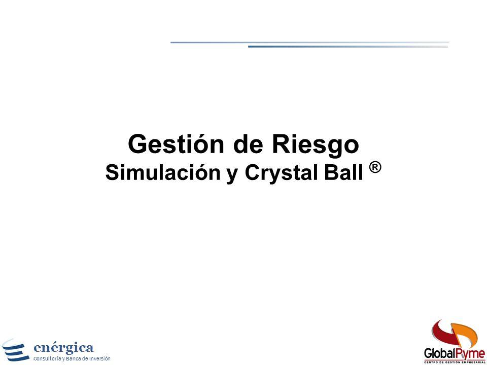 Gestión de Riesgo Simulación y Crystal Ball ®
