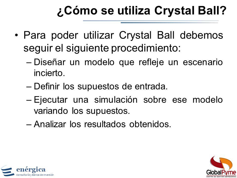 ¿Cómo se utiliza Crystal Ball