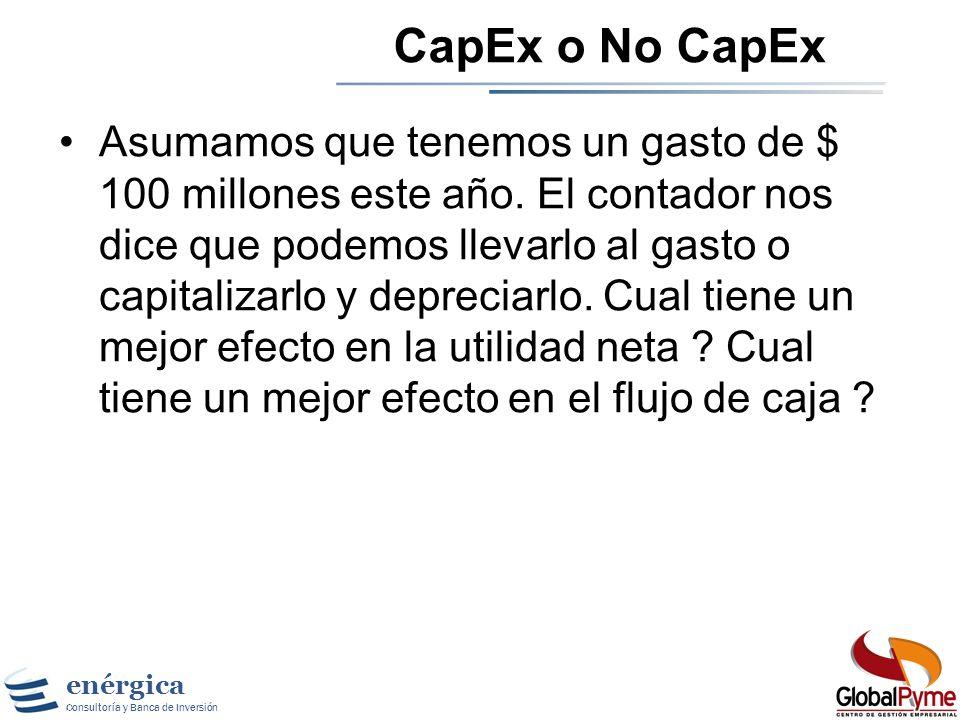 CapEx o No CapEx