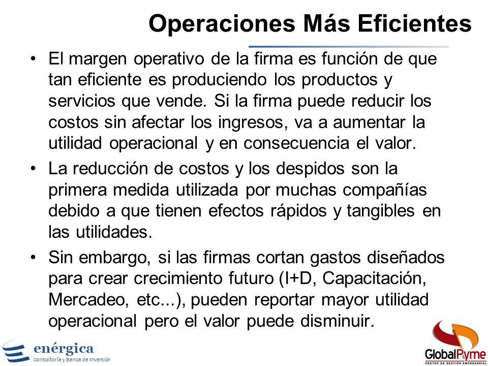Operaciones Más Eficientes