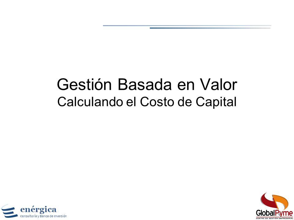 Gestión Basada en Valor Calculando el Costo de Capital