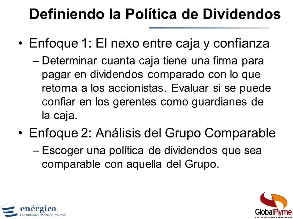 Definiendo la Política de Dividendos