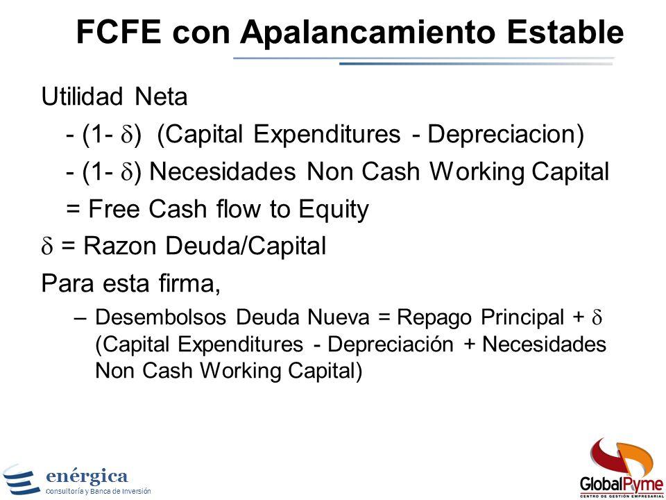 FCFE con Apalancamiento Estable