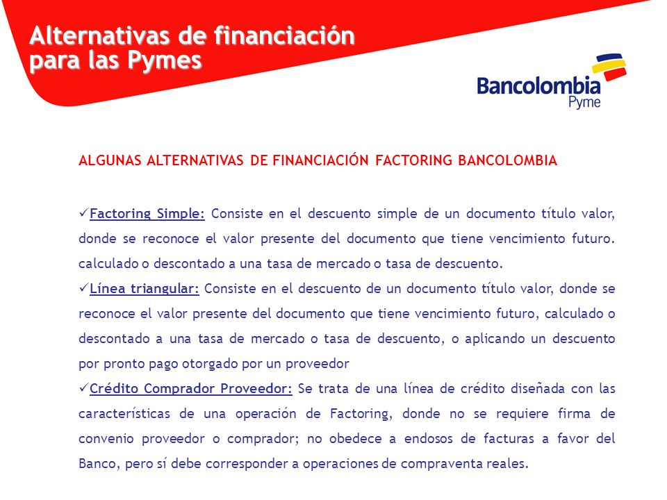 Alternativas de financiación para las Pymes