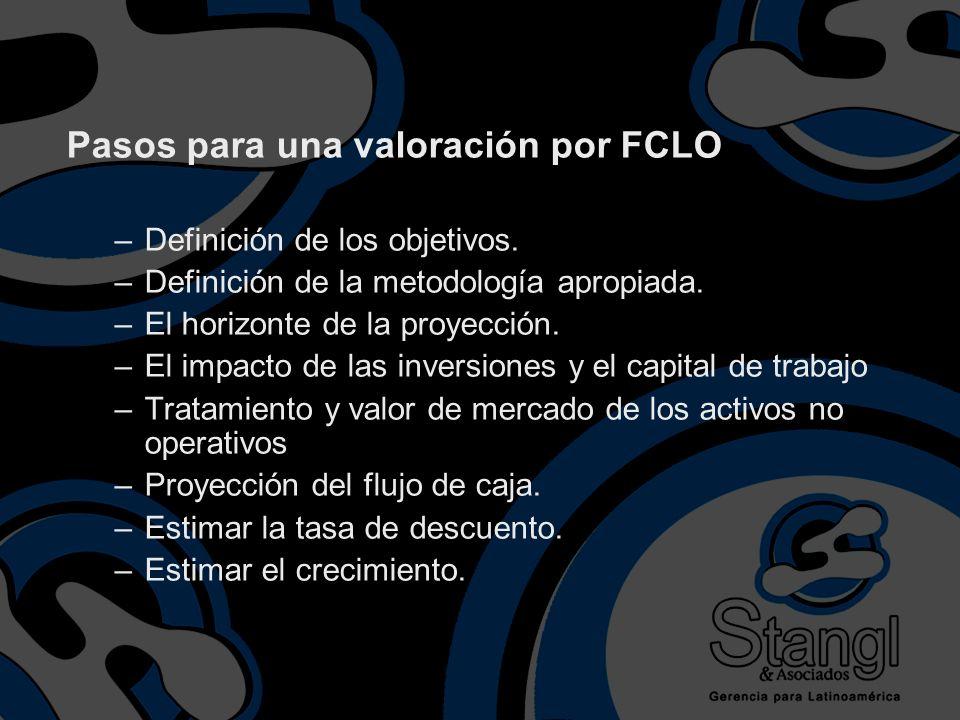 Pasos para una valoración por FCLO