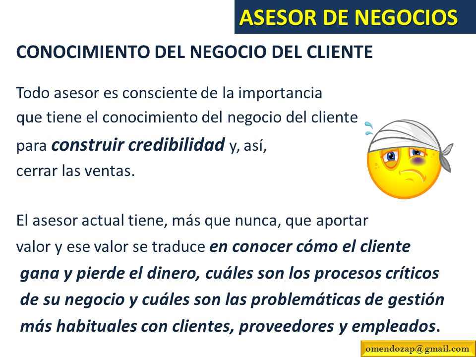 ASESOR DE NEGOCIOS CONOCIMIENTO DEL NEGOCIO DEL CLIENTE