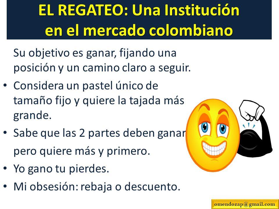 EL REGATEO: Una Institución en el mercado colombiano