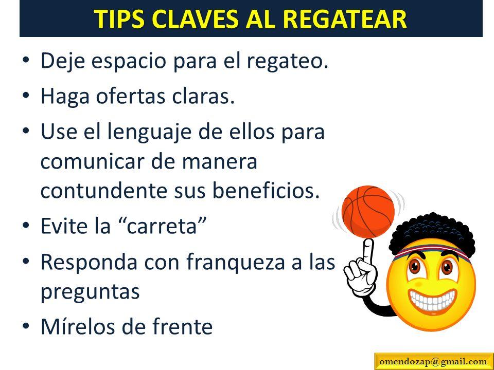 TIPS CLAVES AL REGATEAR